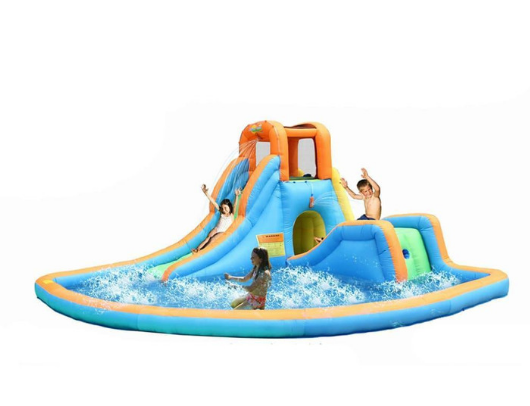 Bounceland Inflatable Cascade Water Slide with Pool Kids Playing