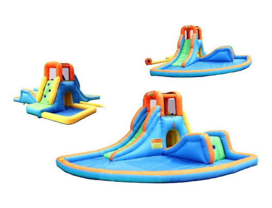 Bounceland Inflatable Cascade Water Slide with Pool multi view