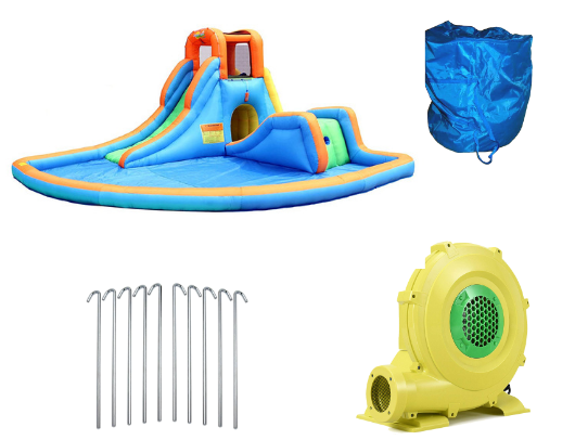 Bounceland Inflatable Cascade Water Slide with Pool Product Images