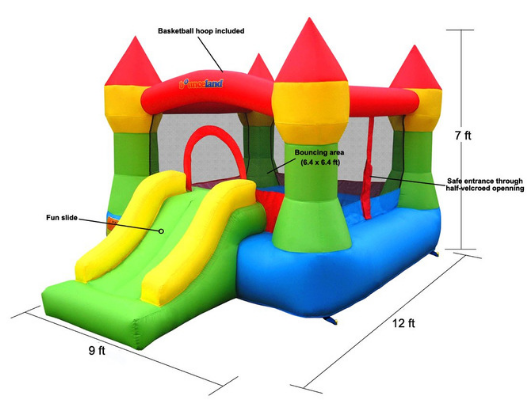 Bounceland Jump Castle House specs