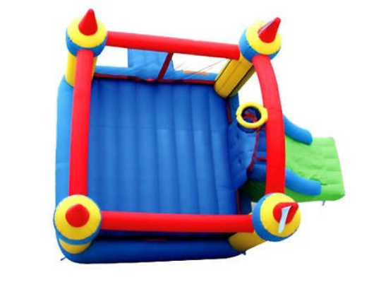 Bounceland Mega Castle with Slide ariel view