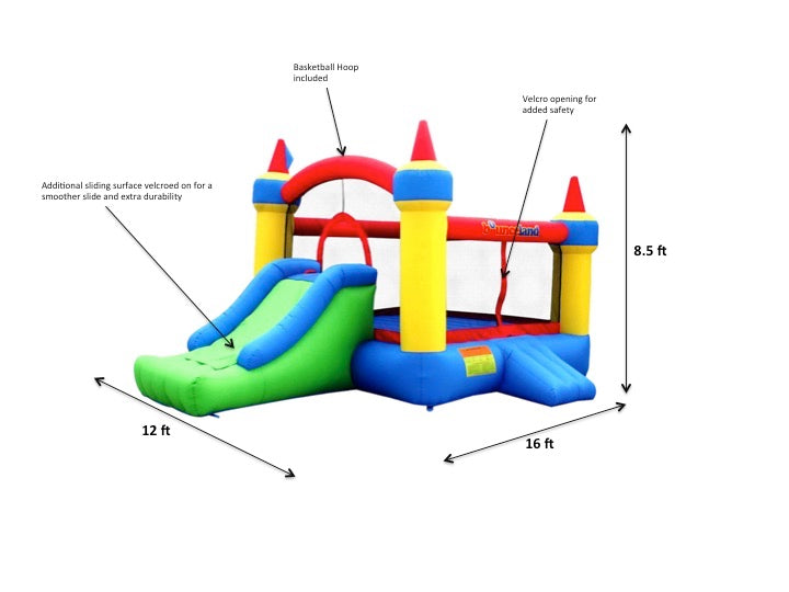 Bounceland Mega Castle with Slide specs