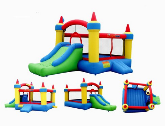 Bounceland Mega Castle with Slide multi view