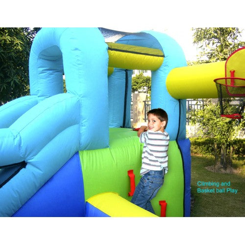 Bounceland Ultimate Combo Bouncer - Boy Climbing Wall