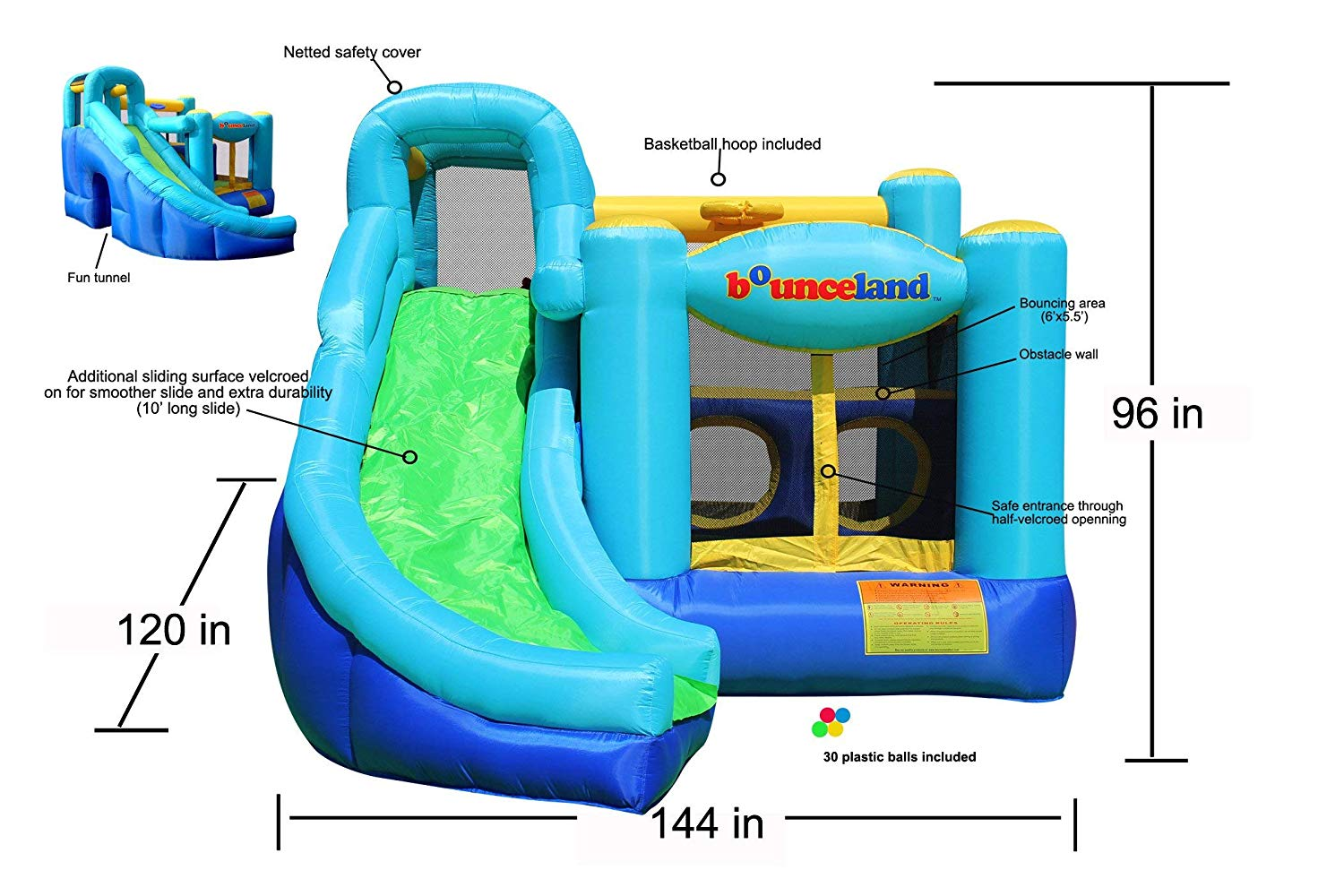 Bounceland Ultimate Combo Bouncer Specs