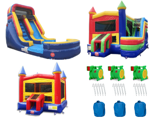 Commercial Bounce House Complete Bundle Package