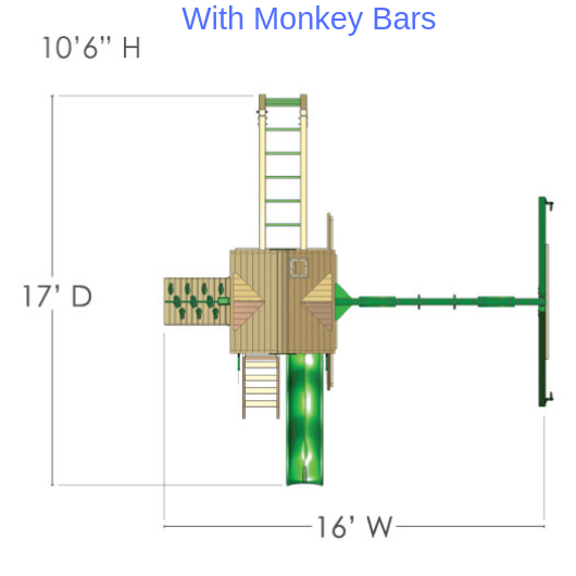 Five Star II - Dimensions with Monkey Bars