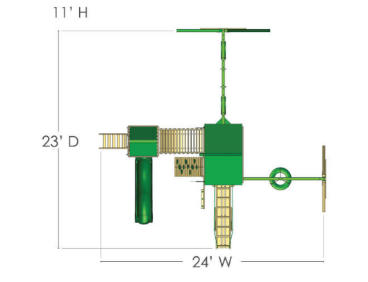 Gorilla Pioneer Peak Swing Set dimensions