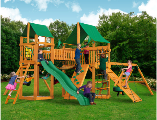 Gorilla Pioneer Peak Swing Set lifestyle image