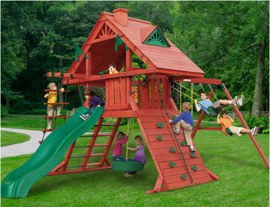 Gorilla Sun Palace Wood Swing Set