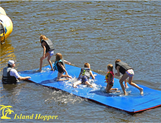 Island Hopper 20' Floating Island & Water Walk attachment