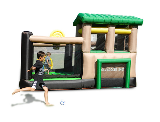 Island Hopper Fort All Sport 7 Activity Bounce House playing soccer