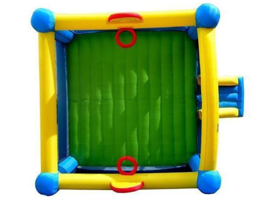 Island Hopper Hoops n Hops Bounce House ariel view