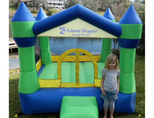Island Hopper JUmp Party Bounce HOuse girl in front