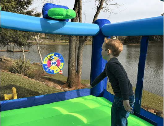 Island Hopper Shady Game Room Bounce House velcro target