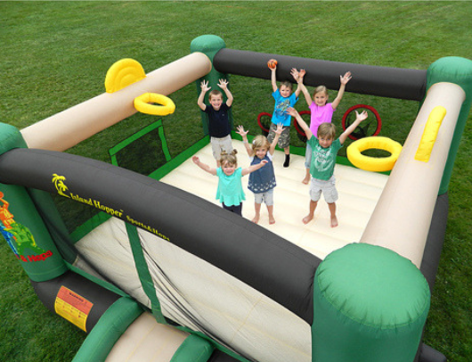 Island Hopper Sports N Hops Ariel View with Kids