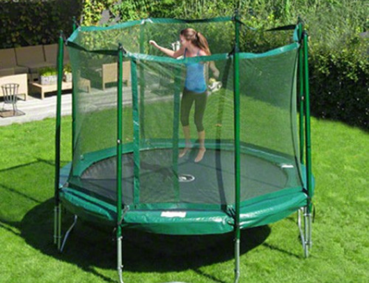 JumpFree 12' Round Trampoline and Safety Enclosure