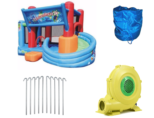 KidWise Celebration Bounce House and Tower Slide product images