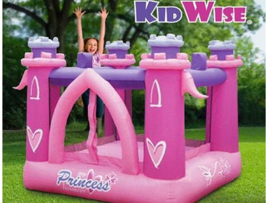 KidWise My Little Princess Bounce House girl jumping