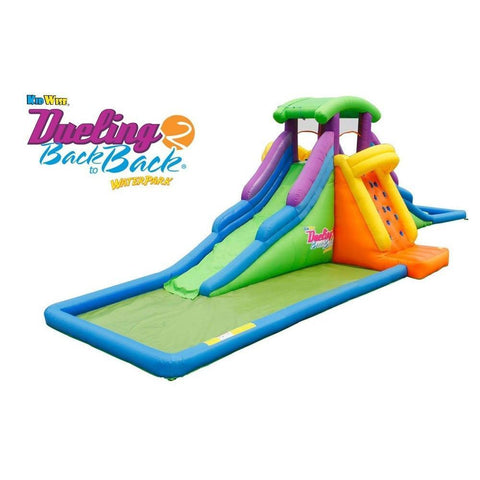 kidwise dueling back 2 back inflatable water slide
