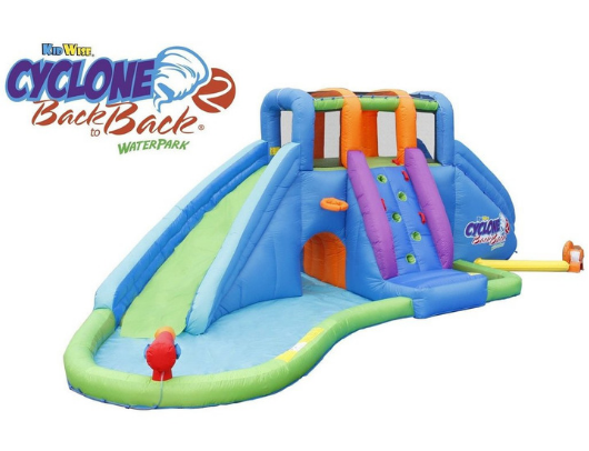 Kidwise Cyclone2 Back to Back Waterpark and Lazy River with blower