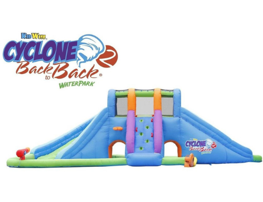 Kidwise Cyclone2 Back to Back Waterpark and Lazy River side view