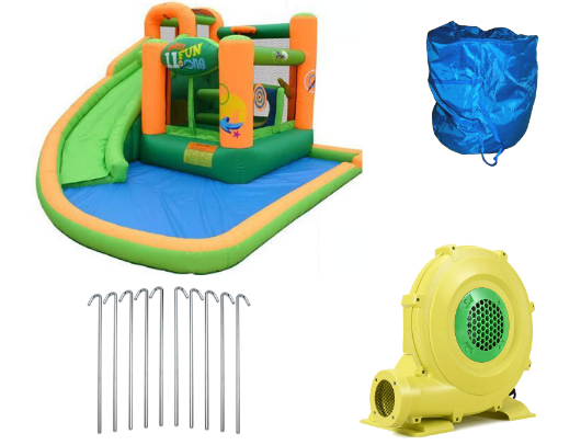 Kidwise Endless Fun 11 in 1 Bounce House and Waterslide product images