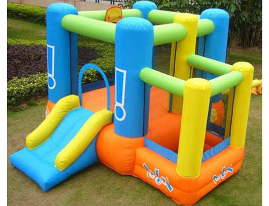 Kidwise Little Star Bounce House with Slide on grass