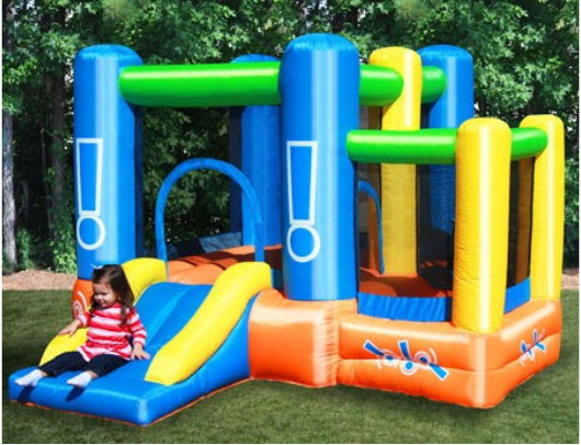 Kidwise Little Star Bounce House with Slide girl on slide