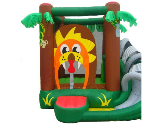 Kidwise Safari Bounce HOuse with Slide front view