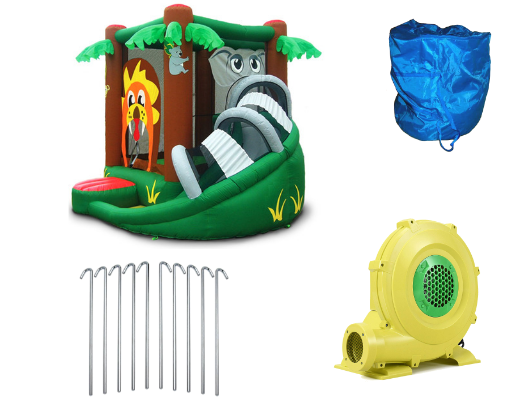 Kidwise Safari Bounce HOuse with Slide product images