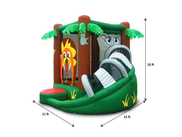 Kidwise Safari Bounce House with Slide specs