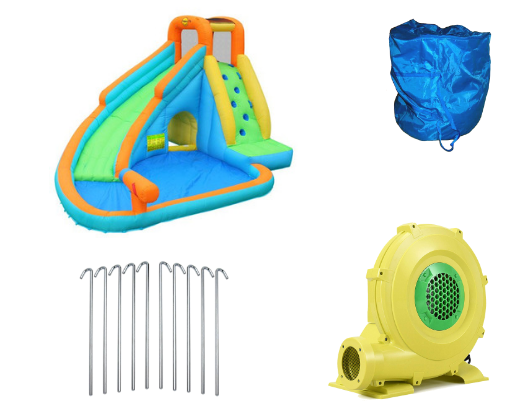 Kidwise Splash Landing Waterslide with Water Cannon Product Images