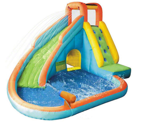 Kidwise Splash Landing Waterslide with Water Cannon water splashing