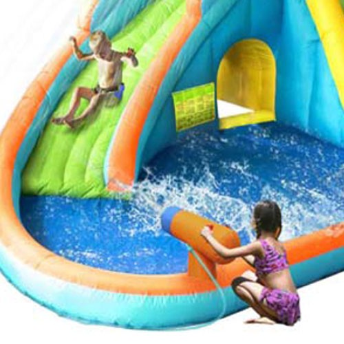 Kidwise Splash Landing Waterslide with Water Cannon Kids up close