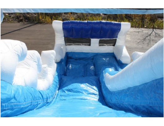 Moonwalk USA 15'H Tidal Wave Slide - top of slide