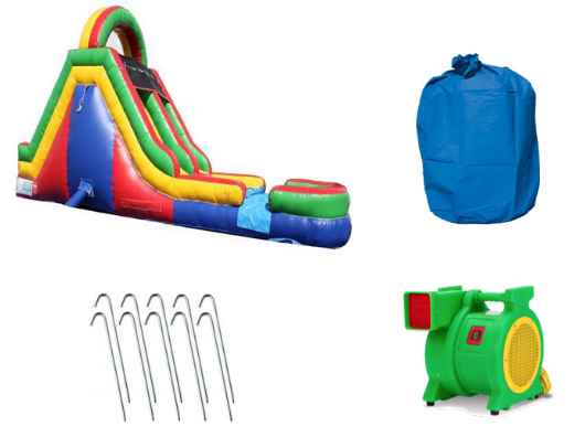 Commercial Inflatable Obstacle Course Slide