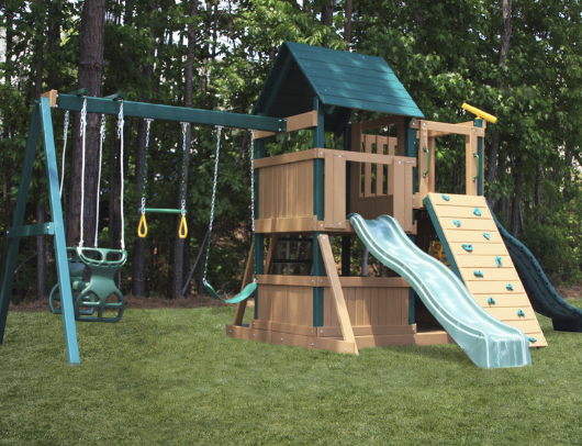 congo safari lookout and climber swing set