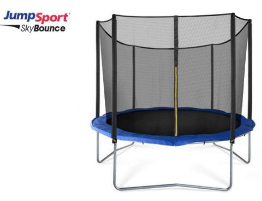 JumpSport SkyBounce 10' Round Trampoline with Safety Net Enclosure