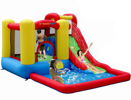 Bounceland Jump and Splash Kids in Water