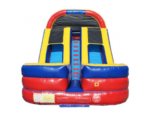 18' 2 Lane Commercial Inflatable Water Slide - Moonwalk USA - The Outdoor Play Store