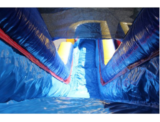 W-031 18' 2 Lane Commercial Inflatable Water Slide - The Outdoor Play Store