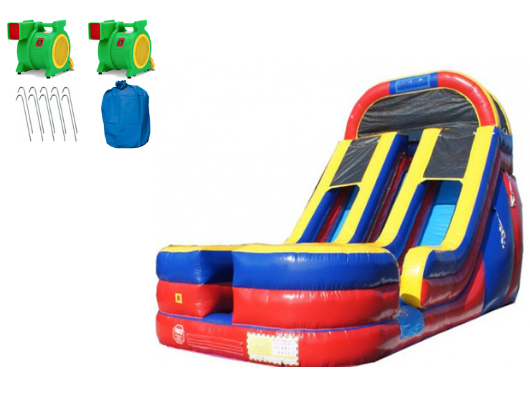 W-031 18' 2 Lane Commercial Inflatable Water Slide
