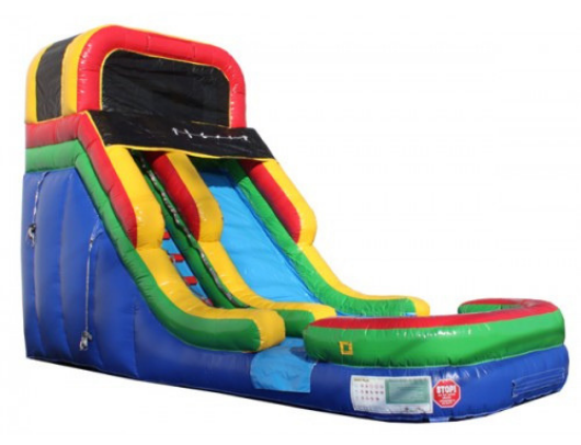 16'H Rainbow Commercial Waterslide Wet n Dry