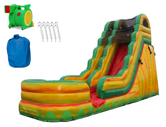 19'H Commercial Inflatable Slide wet n dry