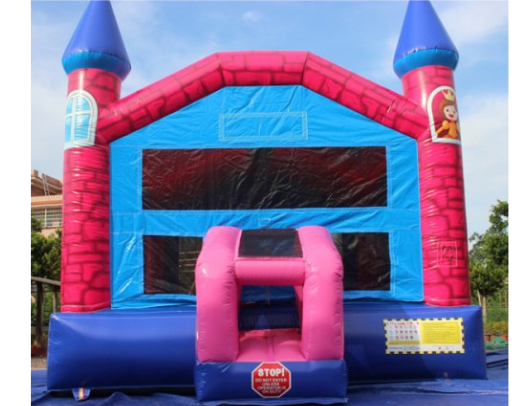 Pink Princess 14x14' Bounce House Front View