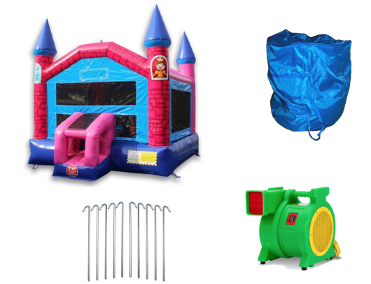 W-353 Pink Princess Bounce HOuse product images