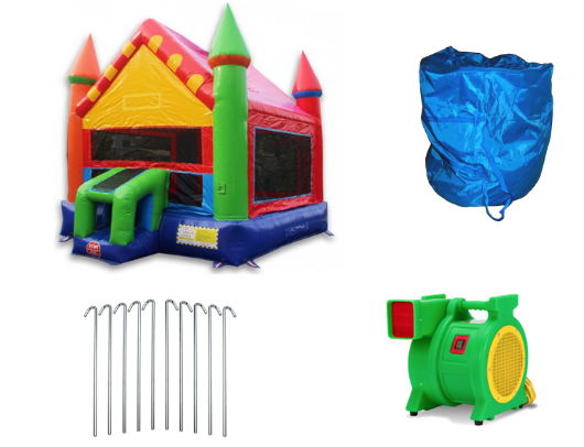 W-354 - 14' Castle bounce house product images