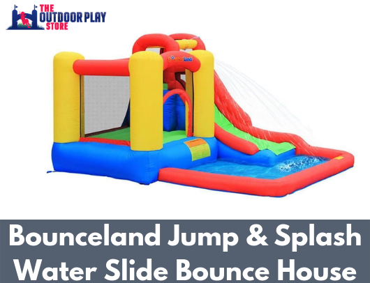 bounceland jump and splash waterslide bounce house for sale
