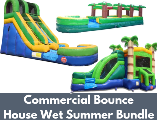 commercial bounce house wet summer bundle